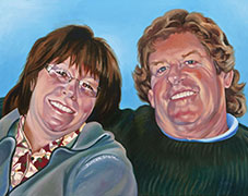 Oil Portrait Painting by Doreen Irwin