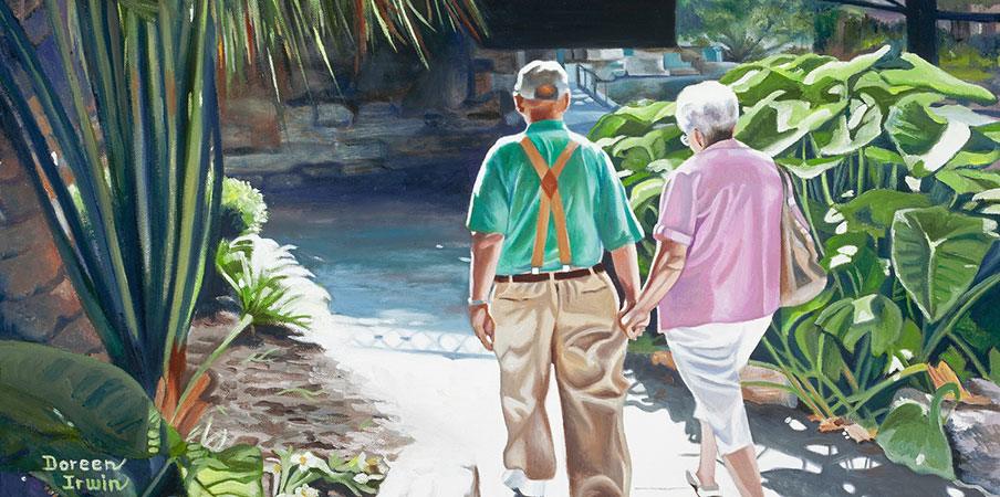 Oil Painting Portrait 'The River Walk' by Doreen Irwin