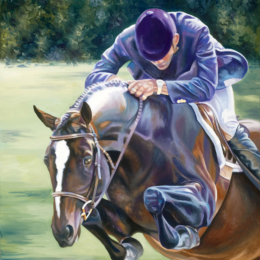 Equestrian Oil Painting 'Winners' by Doreen Irwin